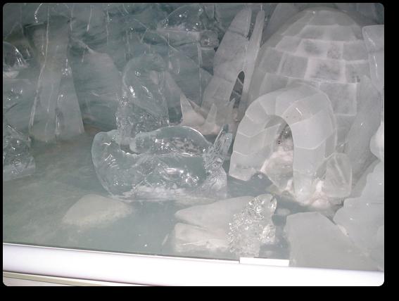 氷の宮殿のオブジェ